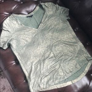Olive green/gold T-shirt